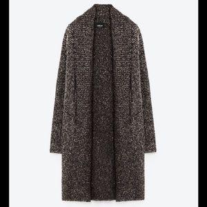 ✨Zara Knit✨Long Chunky Cardigan Sweater w/Pockets